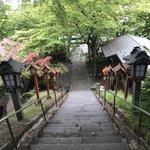 Steps of Kumano-jinja Shrine   Photo taken by Pui san C