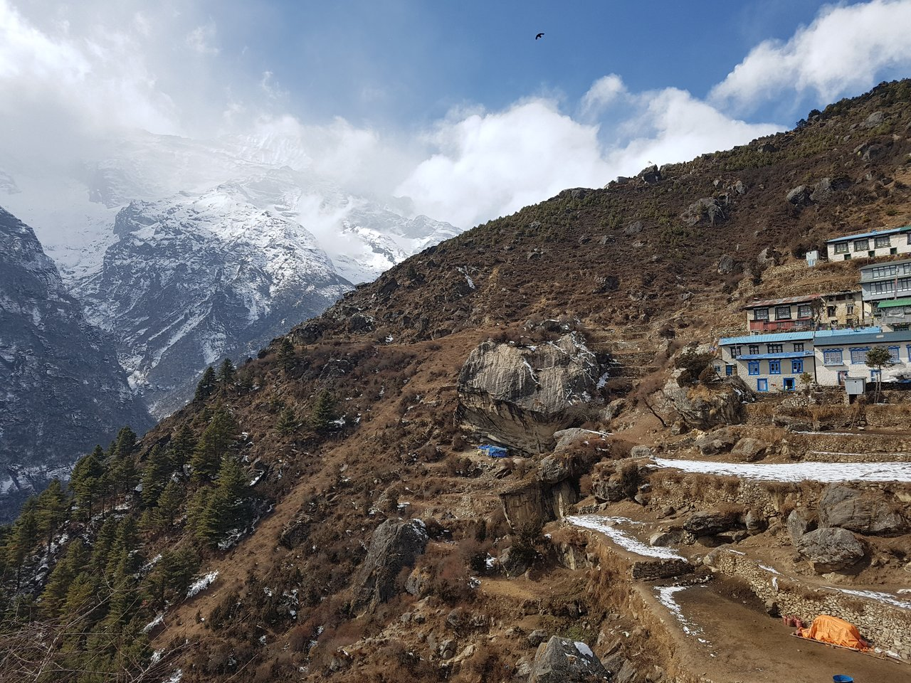 Arriving in Namche | Photo taken by Katarina W