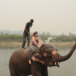 Elephant safari in Chitwan | Photo taken by Kim C