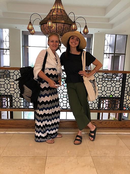 Carmen and me in Aqaba | Photo taken by Jennifer K