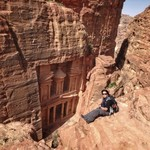 The hike to the top/ Petra Treasury  | Photo taken by Gerelyn G