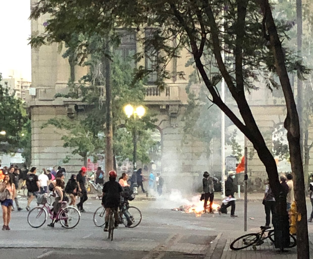 Protest in Santiago Chile 2019 | Photo taken by Melody B