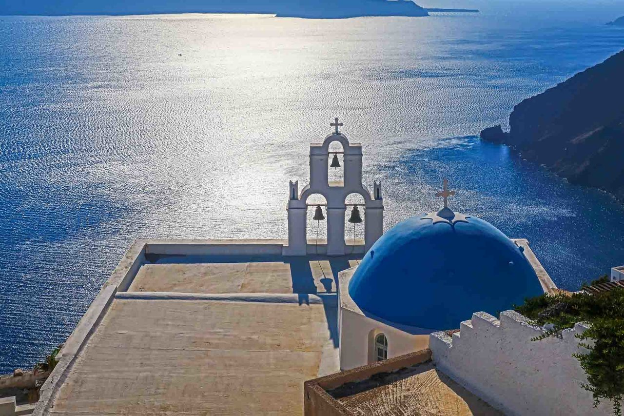 View from Santorini, Greece