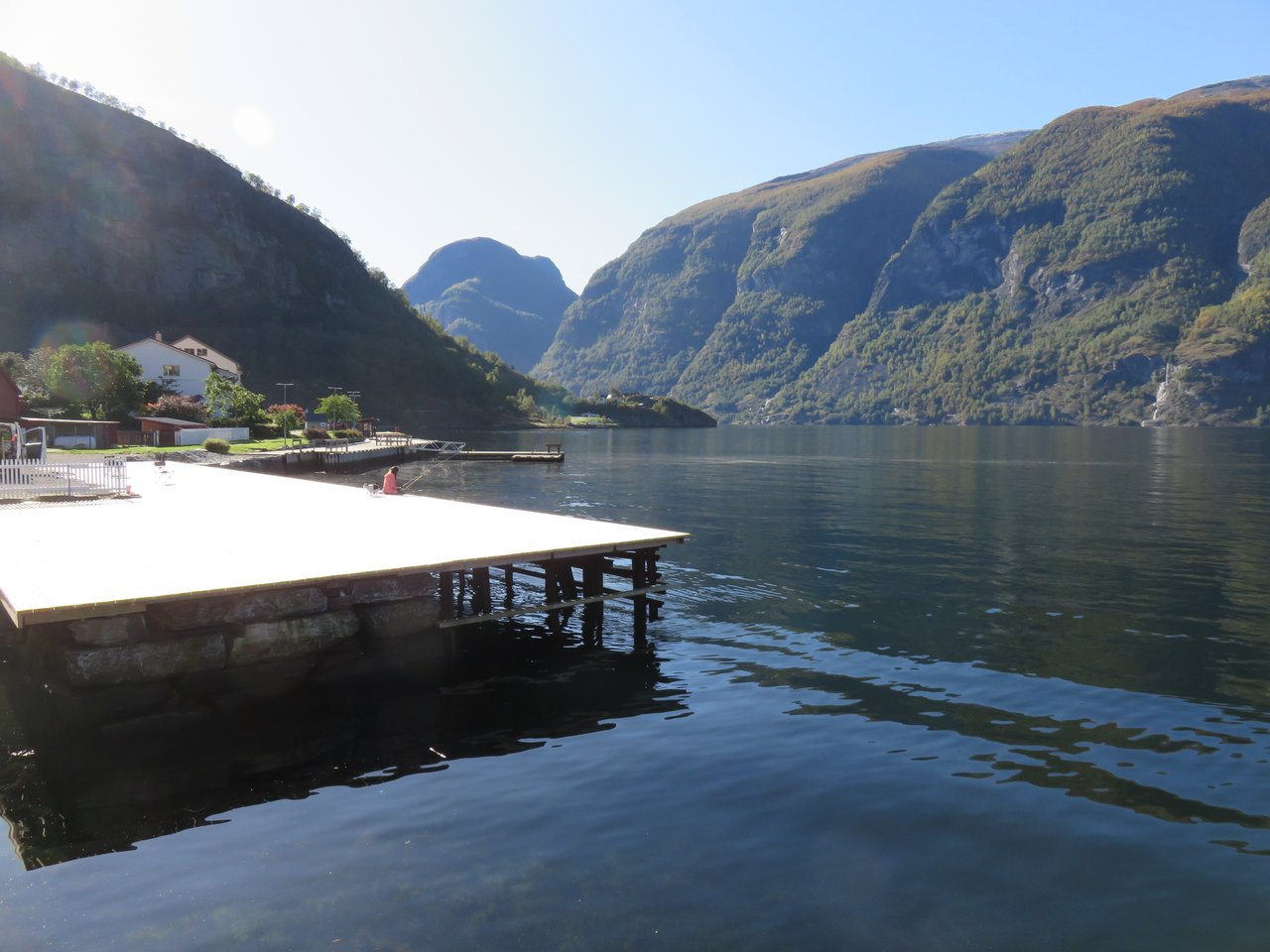 View from our cabin of Aurlandsfjord | Photo taken by Mary K