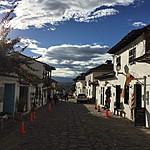 Typical street view Villa de Leyva | Photo taken by David B