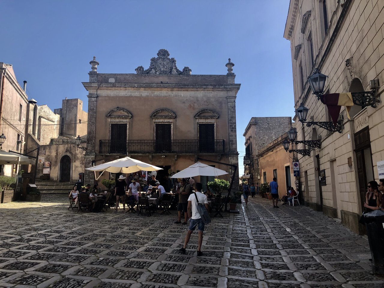 A quaint square in Erice | Photo taken by ingrid B