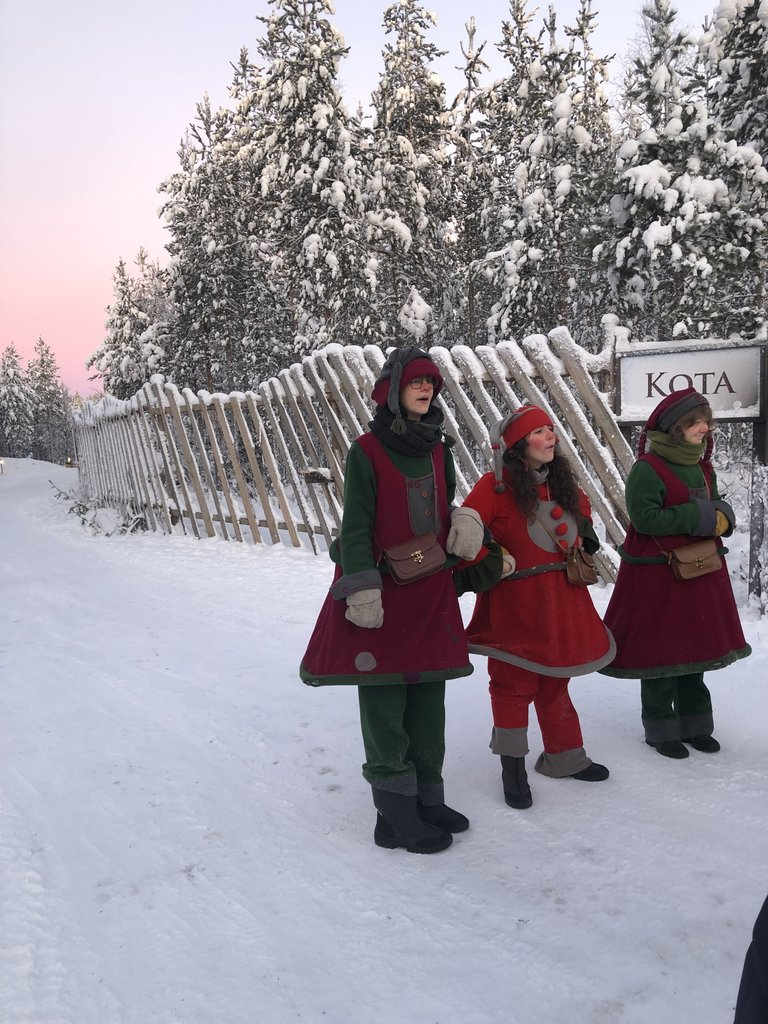 Being greeted by the elves. | Photo taken by Victoria M