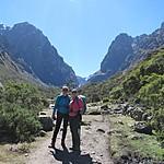 Caro and Kristin on the Lares Trek | Photo taken by Kristin M