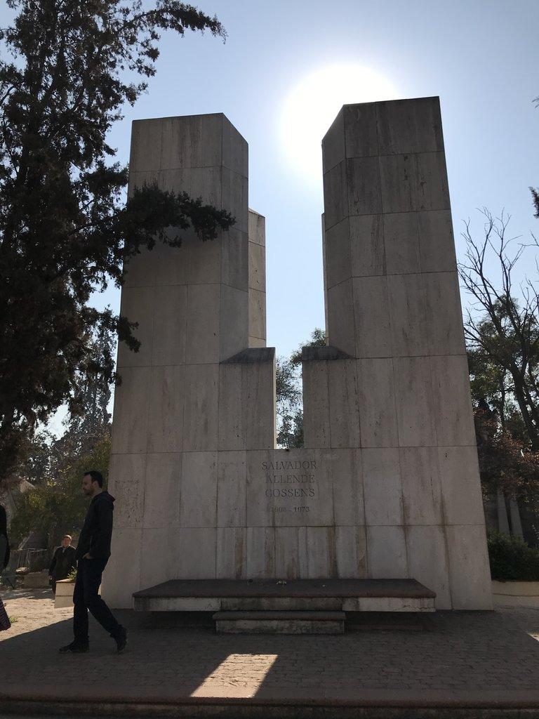 Salvadore Allende's memorial.   Photo taken by Lauri F