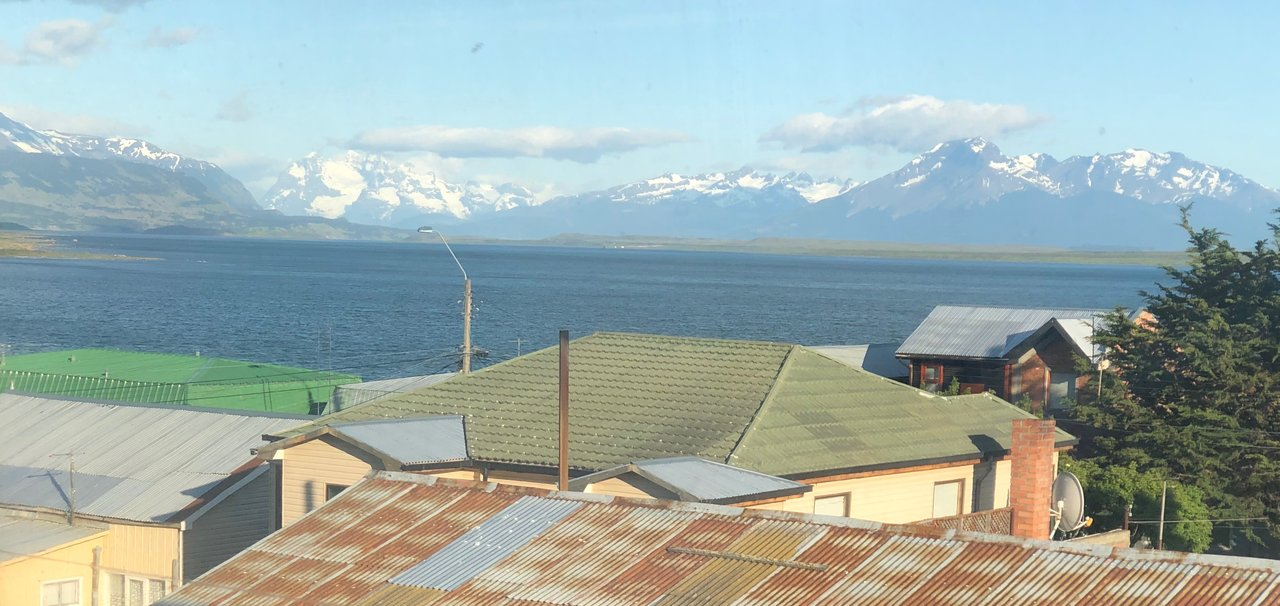 View from IF Hotel in Puerto Natales | Photo taken by Melody B