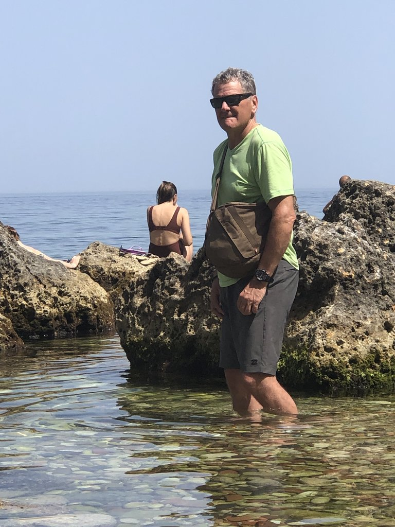 Cooling off in the Tyrrhenian Sea | Photo taken by ingrid B