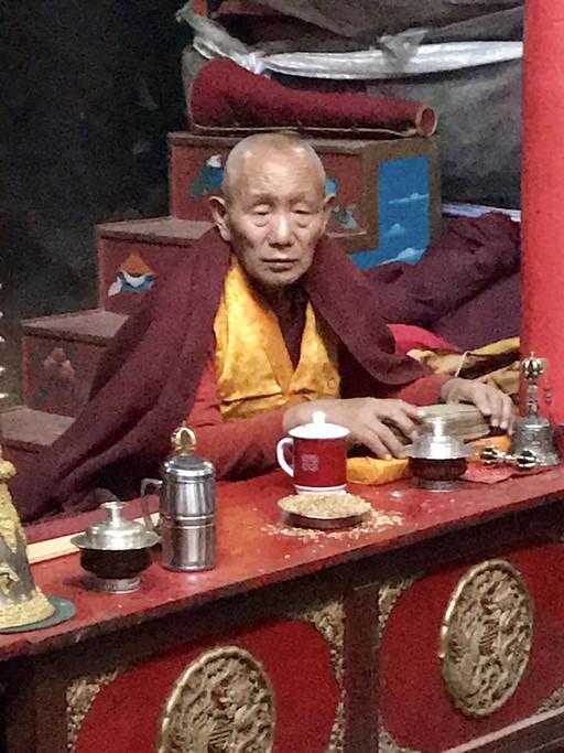Elderly monk | Photo taken by Lisa D