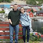 Sebastian and Charlotte in Kalvåg | Photo taken by Roberta R