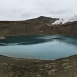 Lake on top of a crater in Myvatn. | Photo taken by Whitney S