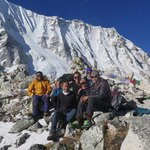 Our group,  - thank you to Chhiri, Sam and Siri for getting us over the pass! | Photo taken by Anna W