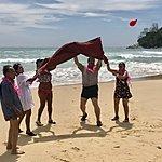 The super fun beach party | Photo taken by Cynthia C