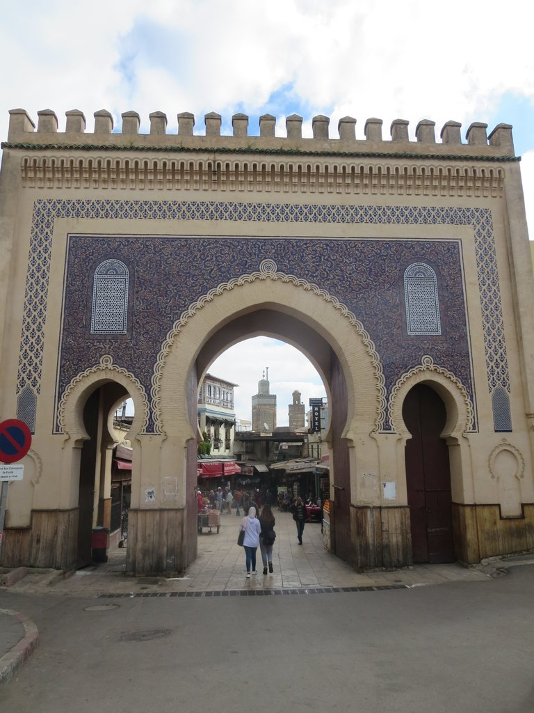 One of the gates into the Fes Medina | Photo taken by Eileen S
