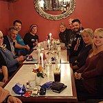 Our dinner with the family in Andalsnes. Ole Johnny, Karin, Kjell, Pol, Olsa, Rachel | Photo taken by Mark M