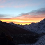 Sunrise as we ascended the pass from Daramshala  | Photo taken by Louis fiorello