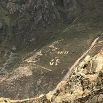 Ollantaytambo - Local schools put their names and numbers on hills | Photo taken by Charles M
