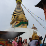Swayambhunath, with our guide | Photo taken by Ana R
