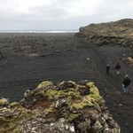 Our first day...hiked to Black lava beach at the Reykjanes Peninsula | Photo taken by Jodi G
