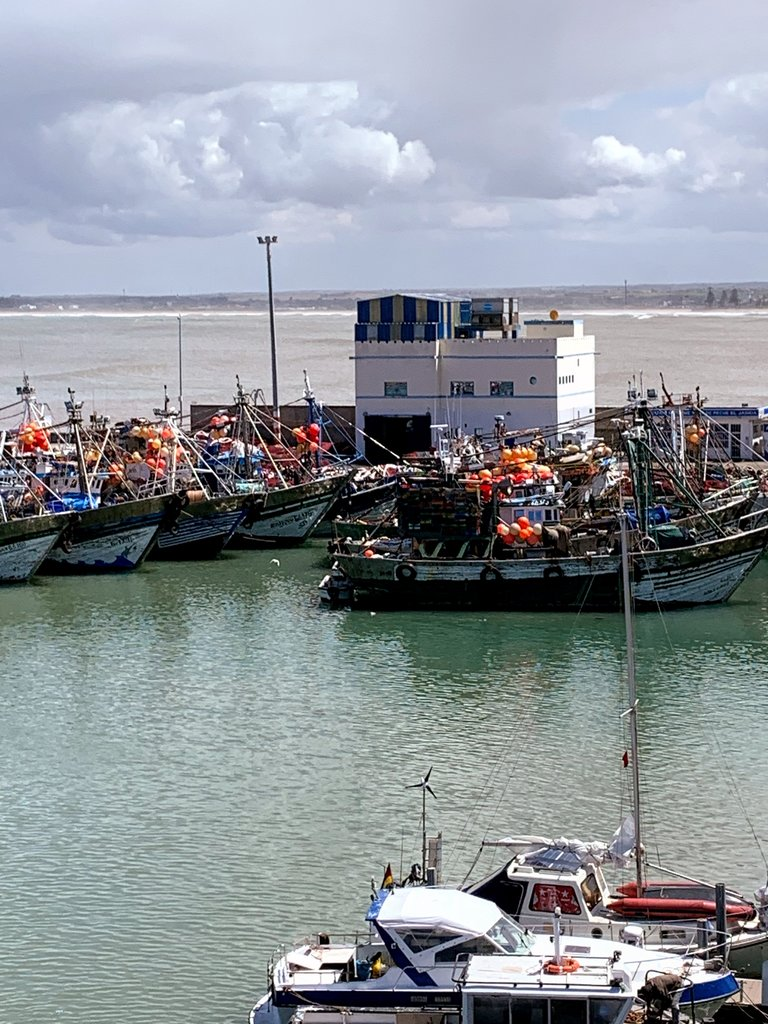 Fishing boats in El Jadida. | Photo taken by Eileen S