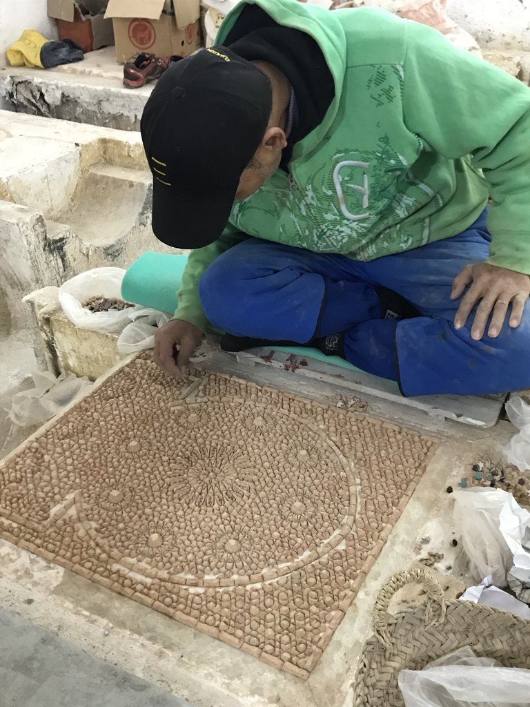 Making a mosaic | Photo taken by Chris M