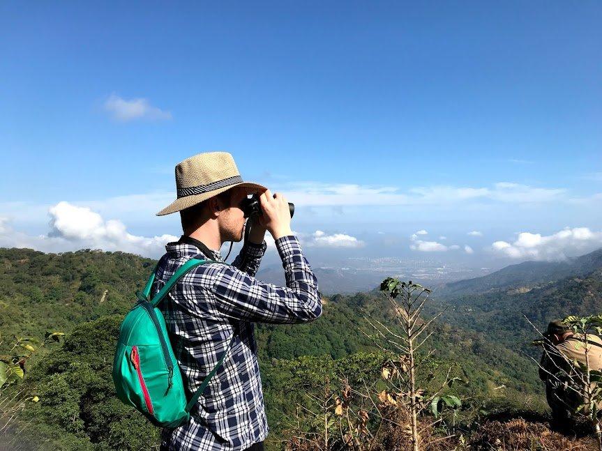 Boy with binoculars | Photo taken by Sophie E