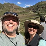 Lisa and Wes at Pisac | Photo taken by Charles M