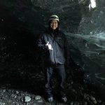 We went to different parts of Vatnajökull glacier. In the cave you could see different lava and ash layers from different eruptions.   | Photo taken by John P