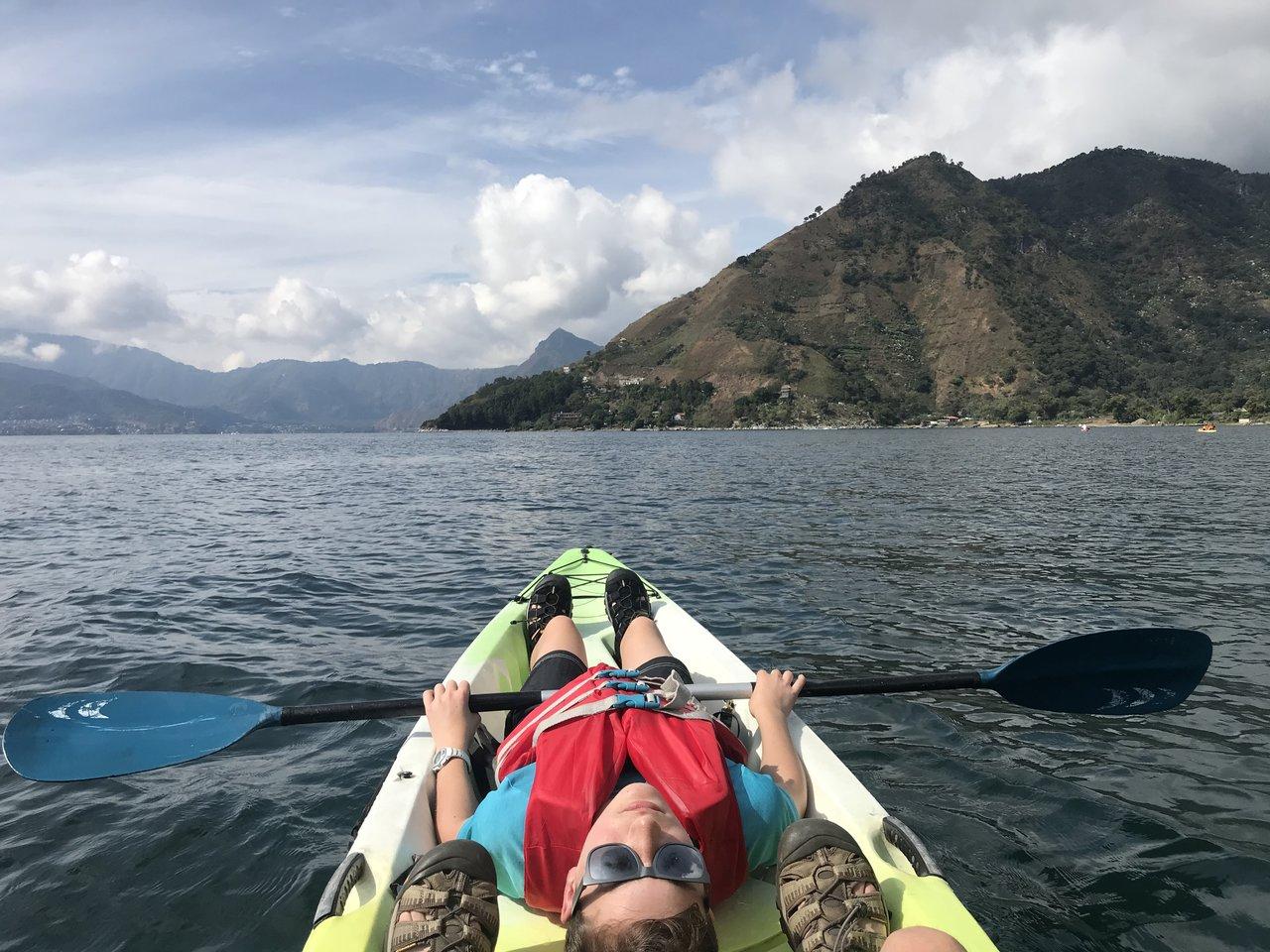 On the kayak | Photo taken by BRAD K
