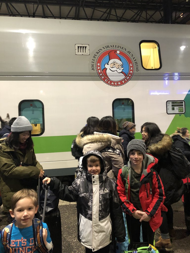 Ready to board the Santa Claus train from Helsinki | Photo taken by Victoria M