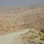 We start our Wadi Has a adventure with a 4 km hike to the valley of Jordan's Grand Canyon  | Photo taken by fern k
