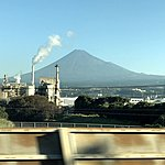Whizzing by Mt Fuji | Photo taken by Joost S