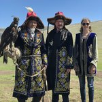 Photo with the Eagle Hunters of Olgii | Photo taken by Trina N