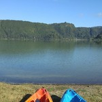 Kayaking on Lagoa das Furnas | Photo taken by Jon B
