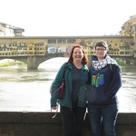 Caryn and I in front of the Ponte Vecchio | Photo taken by Kristin M