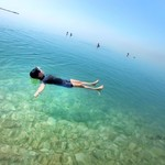 Hypersaline water/Dead Sea | Photo taken by Gerelyn G