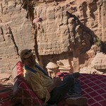 Me chillin with my Bedouin tea | Photo taken by Arnold A
