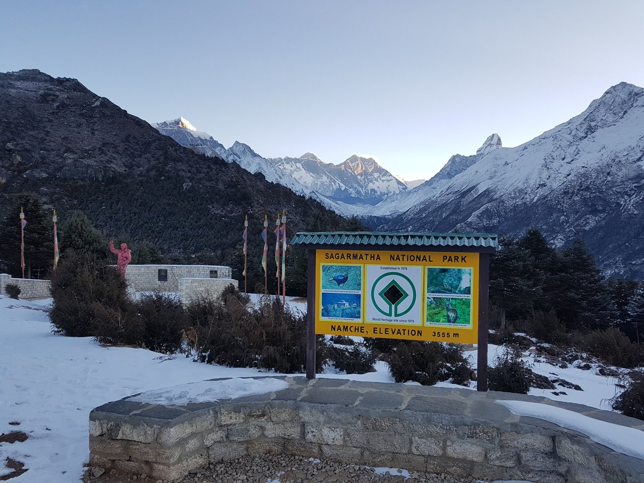 View of Everest from 3.550m   Photo taken by Katarina W