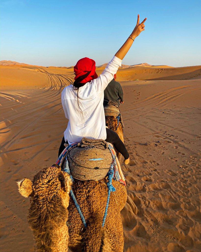 Camel Trek to Tiziri camp | Photo taken by Megan P