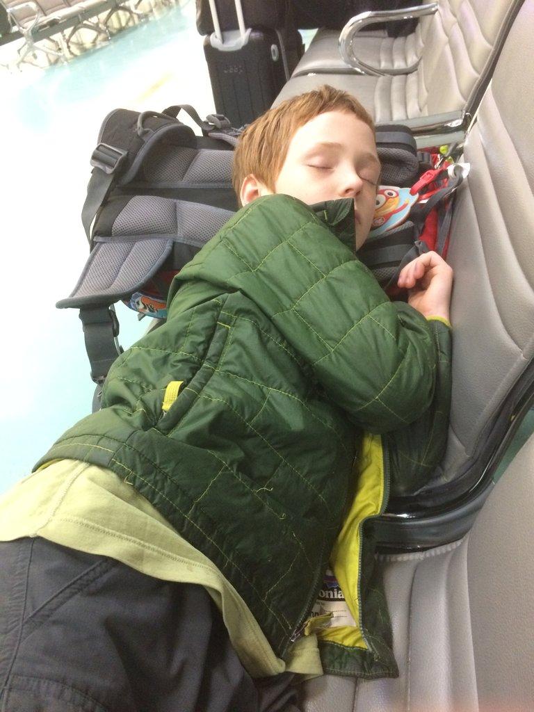 Sleepy little traveller   Photo taken by Brook D