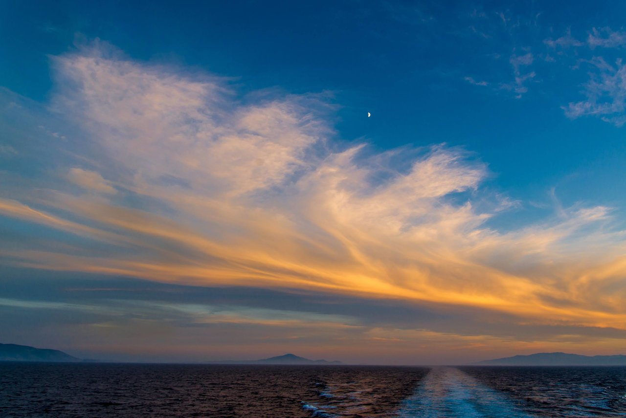 Santorini sunset | Photo taken by David B