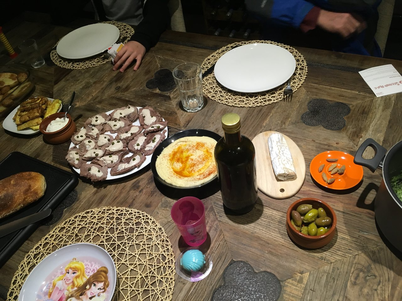 Our beautiful meal! | Photo taken by Linley V