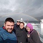 Ferry back to Bergen with a rainbow for good luck! | Photo taken by Mark M
