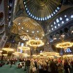 Inside Hagya Sofia mosque | Photo taken by Sharmistha C