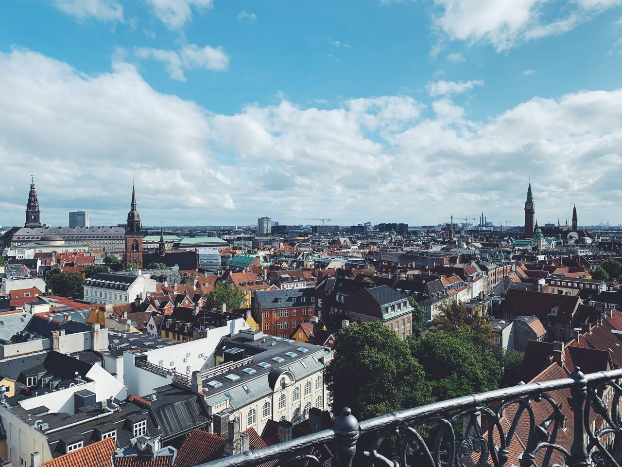View atop the Round Tower in Copenhagen  | Photo taken by Michael W