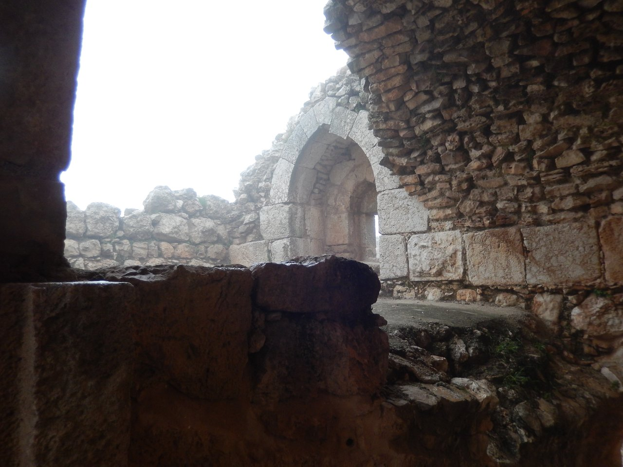 Very cold at Ajloun Castle - and even had hail! | Photo taken by Linley V