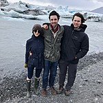 Hannah, Greg and Brian - Jökulsárlón | Photo taken by Elizabeth R